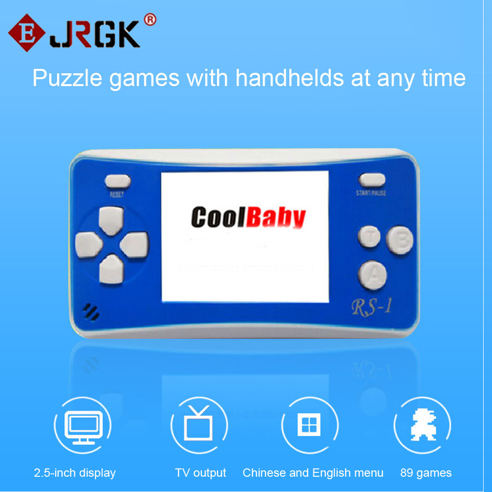 Cool Child classic game machine 2.5 inch LCD 76 Games Inside Portable Handheld Video Game Player Console 8bit NES Games RS-1(China (Mainland))