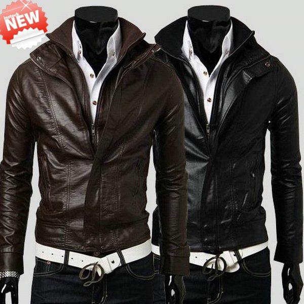 Slim Fit Mens Leather Jacket