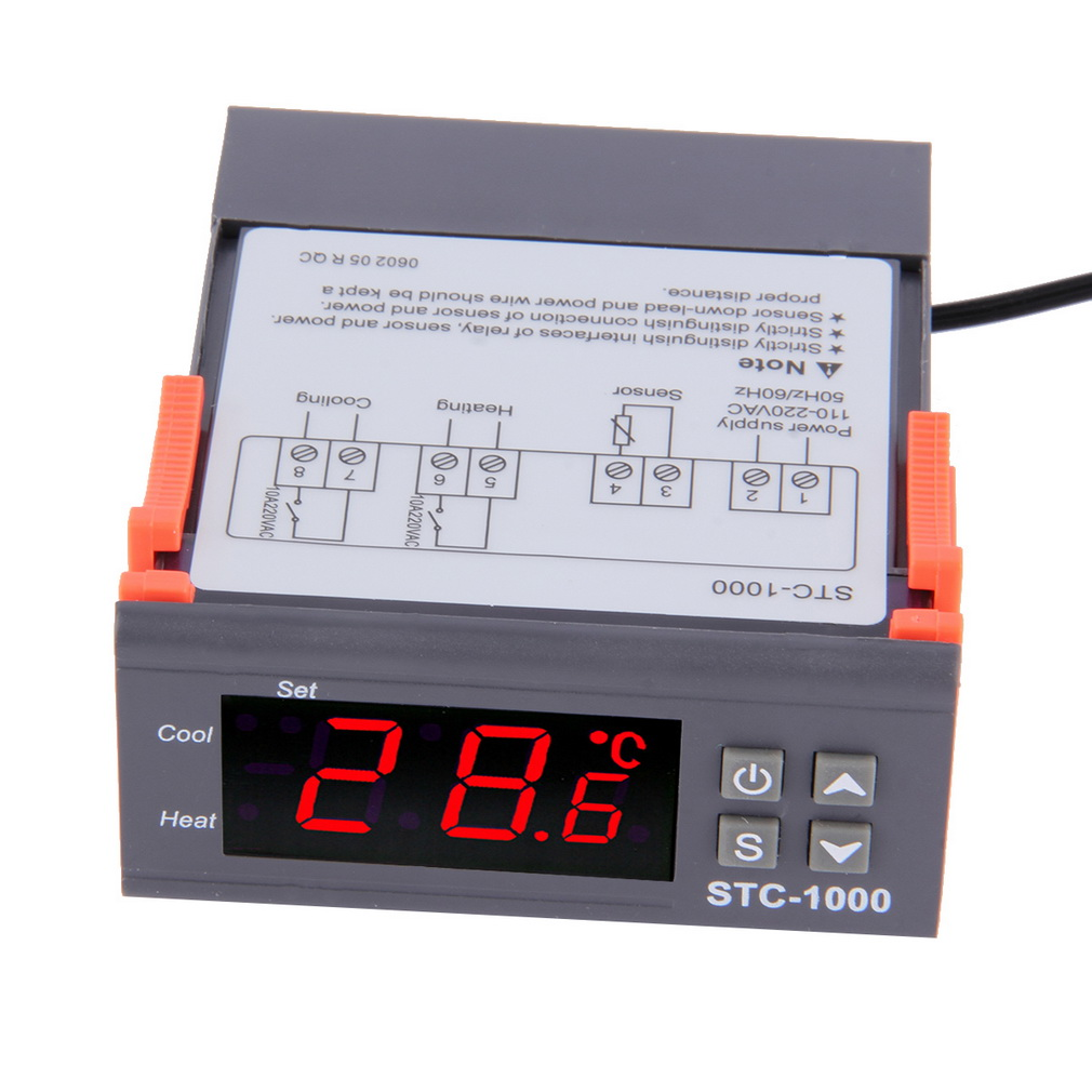 Temperature Controller Thermostat Aquarium STC1000 Incubator Cold Chain Temp  Brand New<br><br>Aliexpress