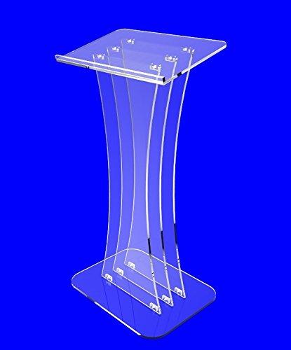 Fixture Displays Clear Acrylic Lucite Podium Pulpit Lectern custom Logo(China (Mainland))