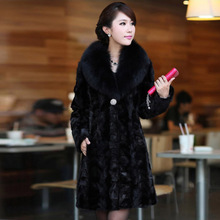 2015 winter fur coat mink fur overcoat female medium-long sable mink fur plus sizes S-4XL Free Shipping(China (Mainland))