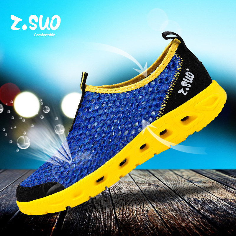 2015 Light Summer Breathable mesh shoes men slip flats Men's Shoes Waterproof Outdoor beach sandals water loafers - Redleaf hair products Co., Ltd store