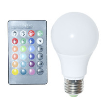 2015 Chrismas Gifts Smart Bulb Lamp RGB E27 10W AC 85-265V 16 Color Change Remote Control LED Bulb Light E27 LED Bulb Lamp(China (Mainland))