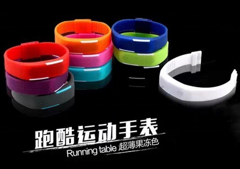 Fashion Men Candy Silicone Strap Touch Digital Bracelet LED Waterproof Sport Wrist Watch Women Kids Watches for man women(China (Mainland))