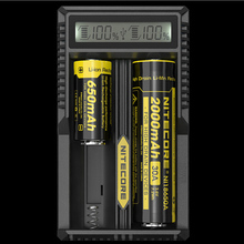 100% Brand New Nitecore UM20 Smart Battery Charger LCD Display Battery Charger Universal Nitecore Charger with usb cables 18650