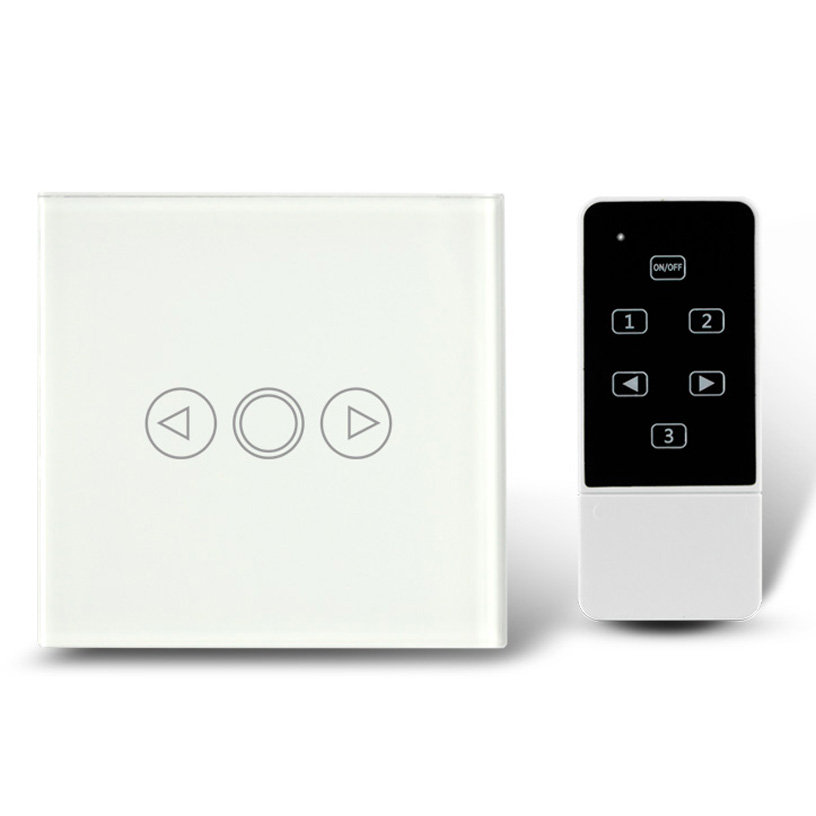 eu type new black 1 gang crystal glass remote control dimmer light switch electrical wall. Black Bedroom Furniture Sets. Home Design Ideas