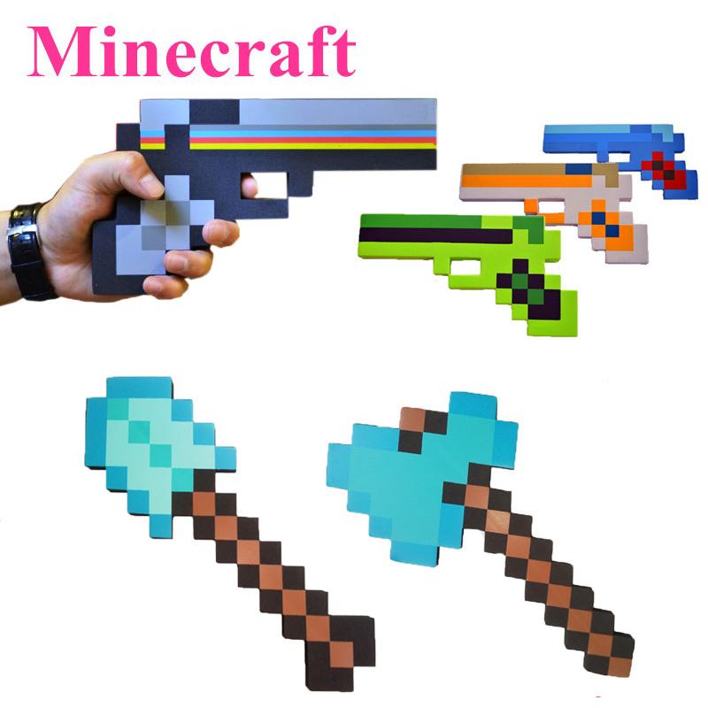 2015 Newest Minecraft Toys Minecraft Sword Pickax Axe Shovel Gun EVA Model Toys Gift Toys For Kids Brinquedos Birthday Gifts(China (Mainland))