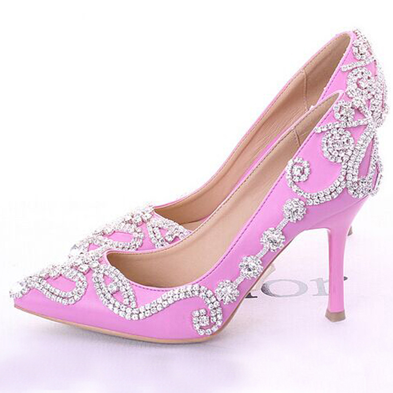 buy glamorous popular pink wedding shoes bridal party high heels with. Black Bedroom Furniture Sets. Home Design Ideas