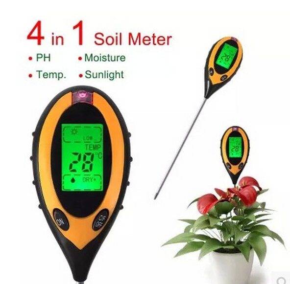 new arrival 4 in1 Plant Soil Meter  PH Moisture Light Temperature Tester Thermometer  with backlight  50% off от Aliexpress INT