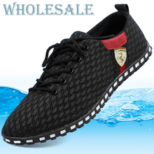Men Shoes Sneakers Summer Zapato New Retro Breathable Mesh Sneaker Shoes for Men's Vintage Shoe Big Discount Hot