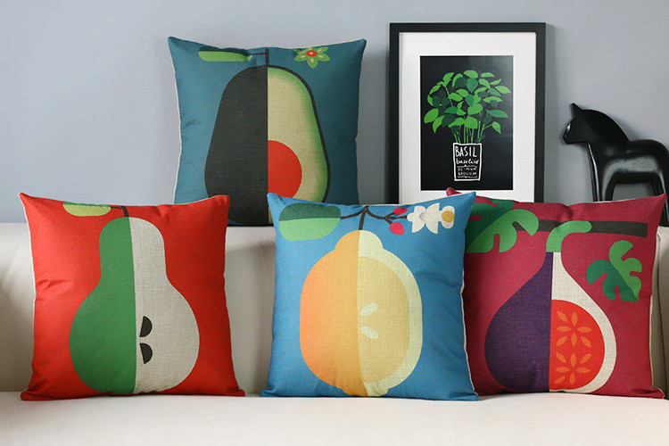 Nordic Simple modern pillow Fruit color Pillow cushion pillowcase sofa cushion home decorative Pillows