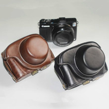 NEW High quality Leather Camera Case bag cover for CANON POWERSHOT G1XII G1X MARK II camera