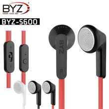 Original BYZ s600 mobile phone earphones headphones with microphone in Ear Headset For iPhone,Computer,MP3 MP4 3.5mm Jack New