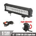 CREE Chips 12 120W 5D Straight LED Light Bar Combo Beam Dual Row Car Work Light