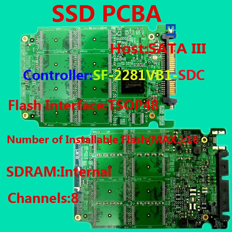 The high-quality SSD circuit board/ SSD PCBA/ SF2281VB1 Controller/DIY SSD /SATA6Gb/s Interface SSD PCBA /Flash Interface TSOP48(China (Mainland))