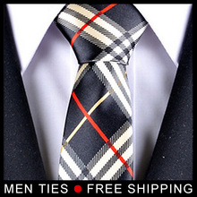 Free shipping Classic Chequer Men Silk Ties Neckties Novelty Gifts New style Brand