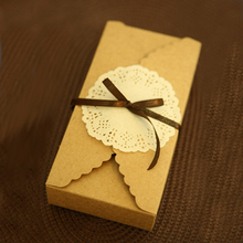 Kraft Brown Paper Scalloped Small Box - Wedding/ Party Favor - Soap/ Cake/ Macaron/ Cookie Packaging - Gift Box 30pcs/lot(China (Mainland))