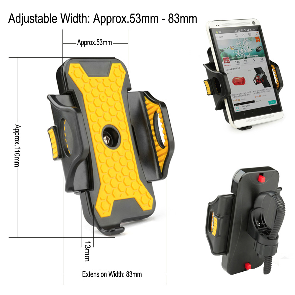 Universal ABS Bicycle Bike Phone Holder Stand Bracket Adjustable Phone Mount Width 53mm-83mm Antiskid for Cellphone GPS MP4 MP5(China (Mainland))