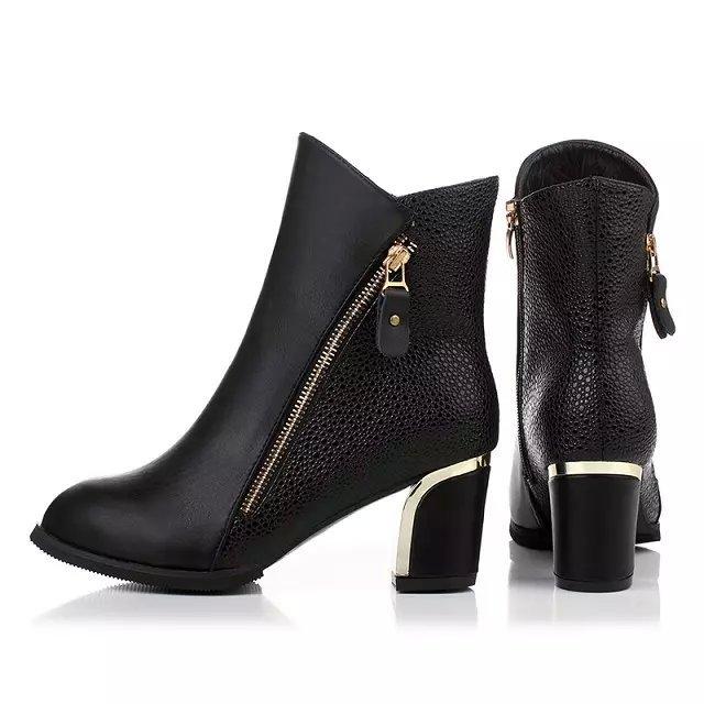 Women Martin boots 2016 Fashion Women short thick winter boots British style women shoes manufacturers selling(China (Mainland))