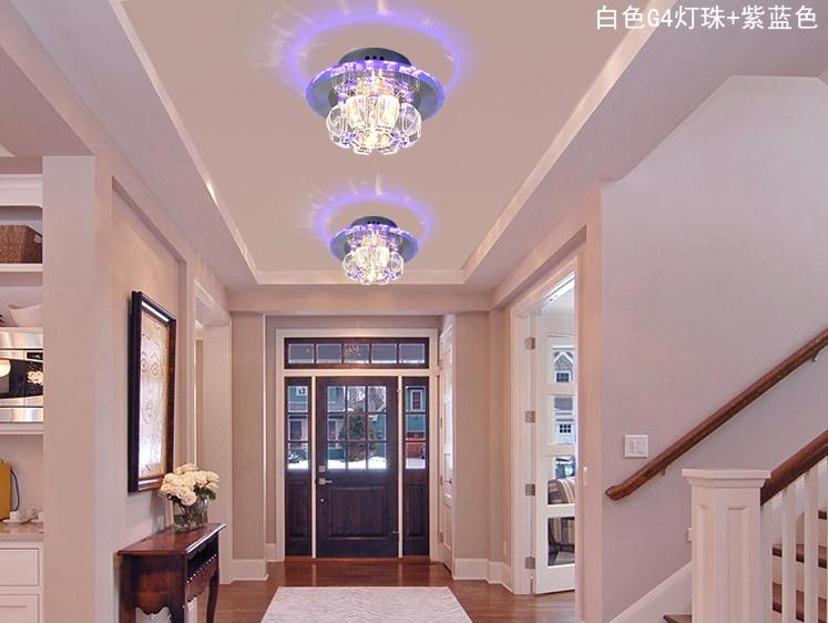 3w hallway light crystal ceiling light fixture with beautiful lighting