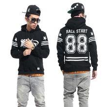 European style printed 88 west  hip hop street men's fashionable high neck hoodie  Plus size XXL  by Air(China (Mainland))