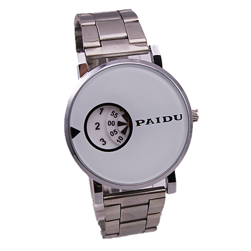 hot sale men luxury silver mesh metal band japan movement special turntable dial casual paidu quartz watch<br><br>Aliexpress