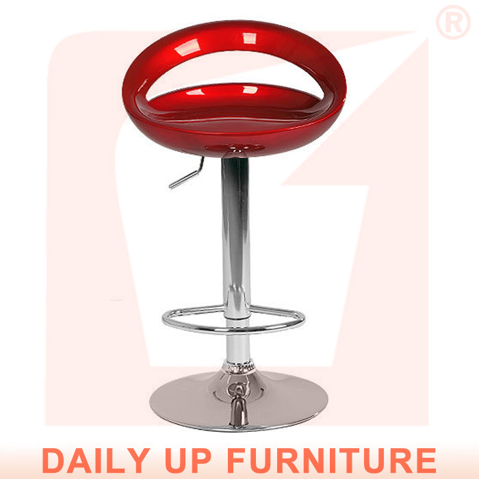New Kitchen High Chair Chrome Base Abs Bar Stool Chair With Footrest Cafeteria Chair Living