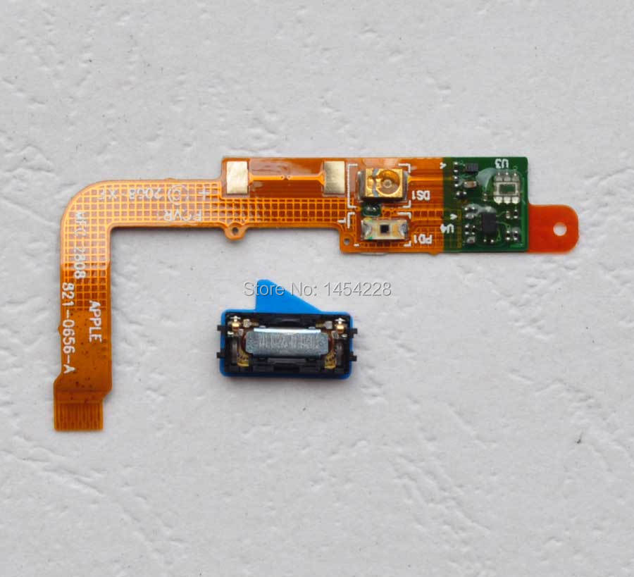 1 set New Proximity Light sensor flex cable + earpiece earphone Earspeaker parts for iphone 3g 3gs replacement free shipping(China (Mainland))