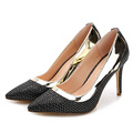 New Large Size35 43 High heeled Pumps Women Shoes Orange Beige Black Shallow Mouth Thin Heel
