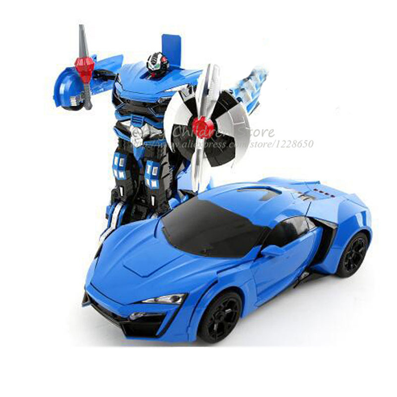 RC Robots Remote Control Cars Transformation Transform Toy Light Sound Dance Electric Car Models Action Toy Boy Birthday Gift(China (Mainland))