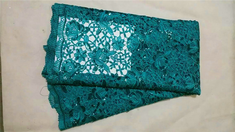 2015 New African guipure lace water soluble chemical lace,African cord lace high quality for nigera party dresses 5yards/lot