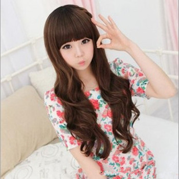 Promotion New Womens Lovely Style Sexy Long Curly Hair Natural Party Cool Girl Full Wig<br><br>Aliexpress