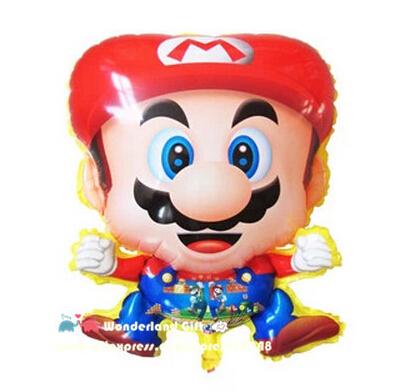 Super 2pcs PVC game hero balloons,child brother classic toys,birthday party decoration kids,helium lantern ballon globos baloon(China (Mainland))