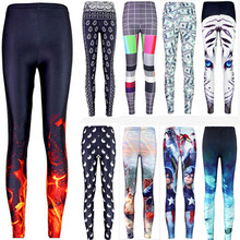 Sexy 2015 hot sale new arrival Novelty 3D printed fashion Women leggings space galaxy leggins tie dye fitness pant free shipping(China (Mainland))
