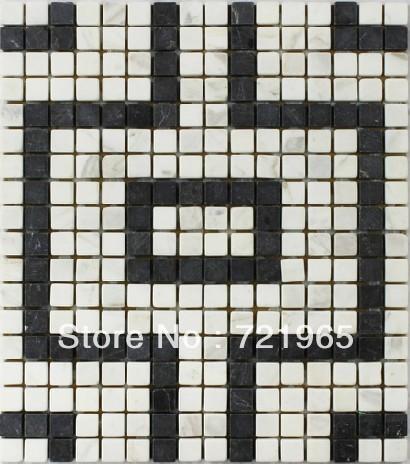 buy white marble mosaic tile kitchen