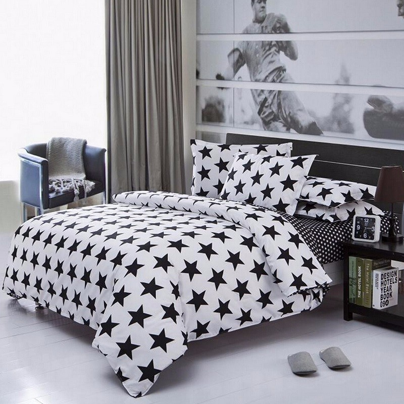 New Geometry Square Bedclothes Sets Single/Double/King Size Bedding Set Pillow Case Quilt Duvet Cover Sheet For Bed(China (Mainland))
