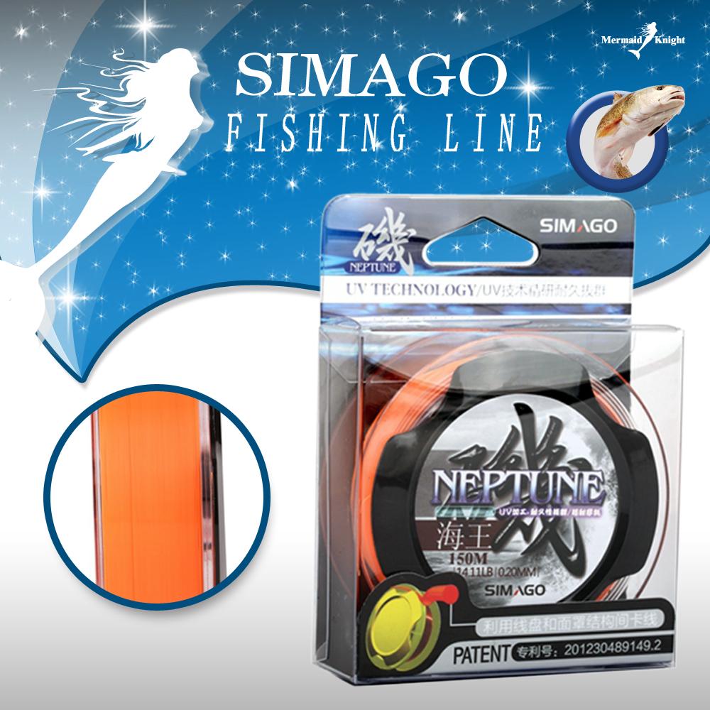 SIMAGO, 100% Nylon Fishing Line - Length:150m/165yds, Diameter:0.1mm-0.4mm, Size:3-40lb Tackle, pike, carp, pesca. MK store(China (Mainland))