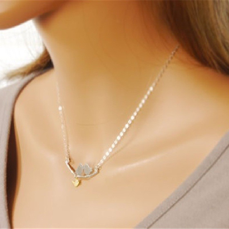 bird necklace love products rose gold