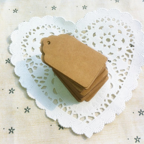 Гаджет  5*3cm Antique Kraft Paper Gift Cards/Tags with Swirl Edges for Wedding Decoration/DIY Card Making/Scrapbooking Paper Crafts None Офисные и Школьные принадлежности