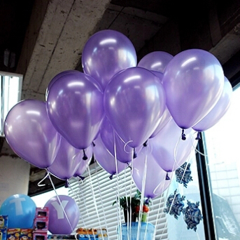 100pcs/Lot 1.5g Latex Balloons Purple Happy Birthday Balloons Party Wedding Decoration Wedding Favors Event Party Supplies(China (Mainland))