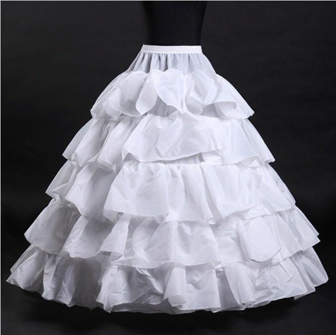 Hot sale 2015 crinoline petticoat slip black 5 hoops for Plus size wedding dress petticoat
