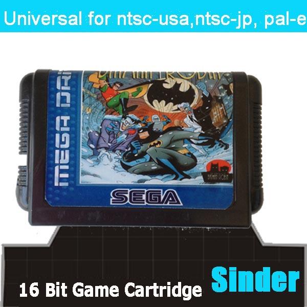 The Adventure Of Batman & Robin --- 16bit game cartridge for sega megadrive / genesis home game computer(China (Mainland))