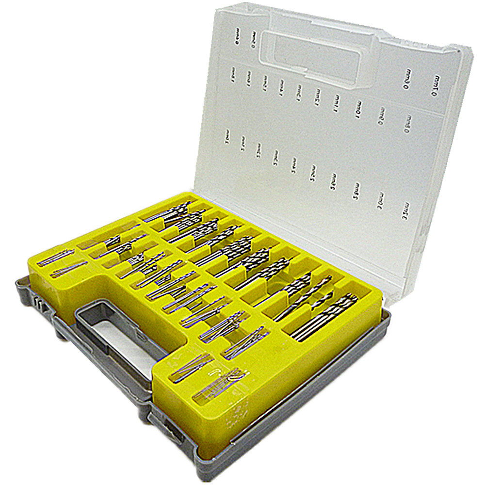 4mm diamond twist drill bit - 150pc Mini Micro Power Drill Bit Small Precision Hss Twist Kit Craft Model Pcb Airfix Modelling 0 4 3 2mm Twist Drill Bit Case