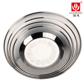 Chinese wind guofeng dish eslpodcast 304 0.5mm thickness stainless steel dish disc fruit plate