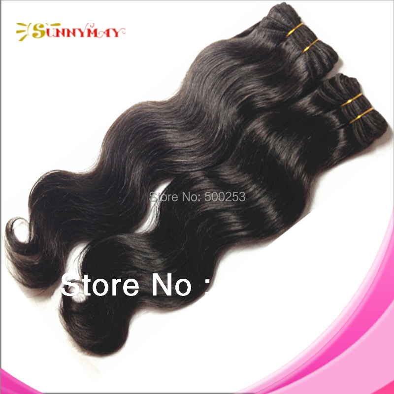 Top Quality Mongolian Virgin Hair Extension Body Wave Hair Weft In Stock(China (Mainland))