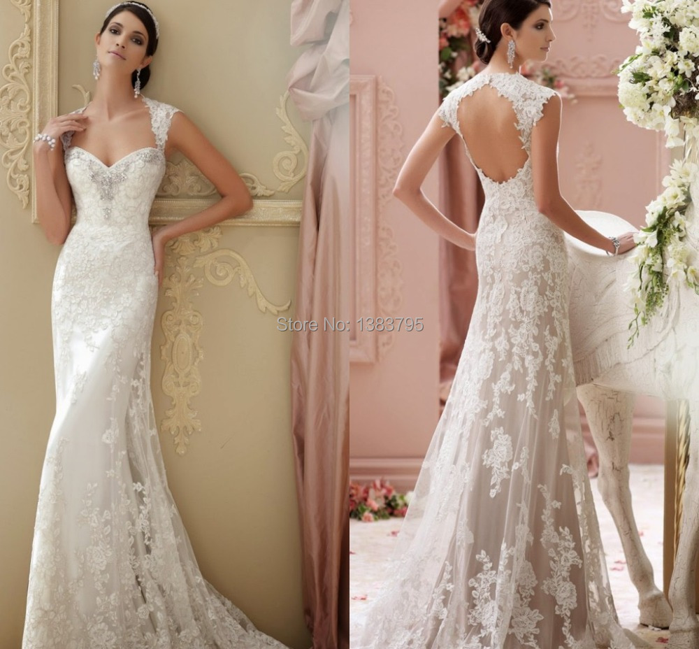 Lace Sheath Wedding Dress Cap Sleeves Promotion-Shop for ...