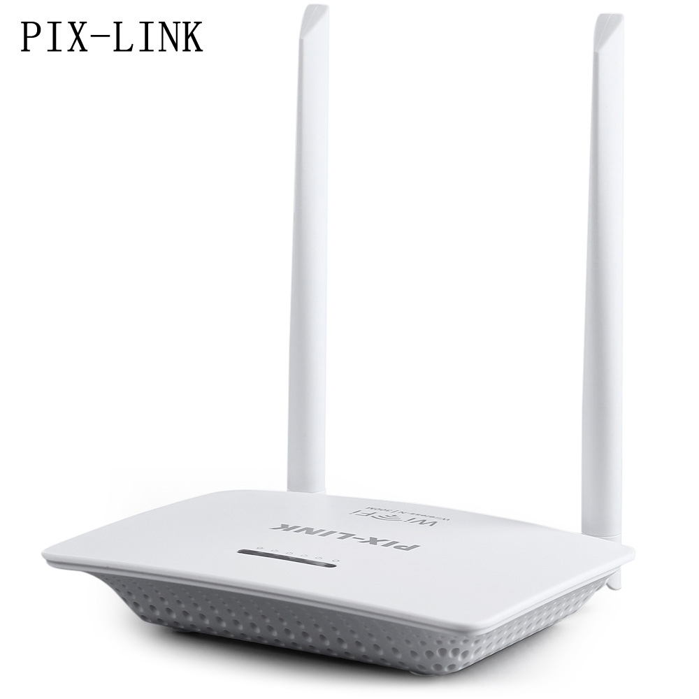 New Arrival Brand PIX - LINK High Speed up to 300 Mbps 802.11n Two Antennas Wireless-N Router Server EU PLUG