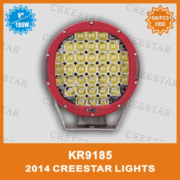 "185W CREE 9"" round led driving lights ARB led driving light KR9185 Used 5W/pcs cree led chips(China (Mainland))"