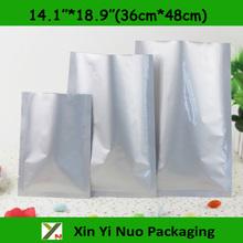 "30pcs/lots 14.1""*18.9""(36cm*48cm)*200micron High Quality Large AL Foil Frozen Food Vacuum Packaging Flat Bags(China (Mainland))"