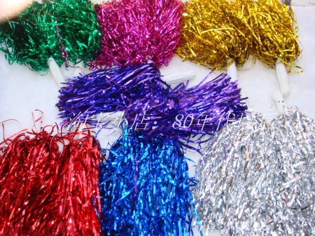 50pcs/lot Pompom,Cheering Pompom,Metalic Pom Pom,Cheerleading Products,30G,7 Colours D-1157(China (Mainland))